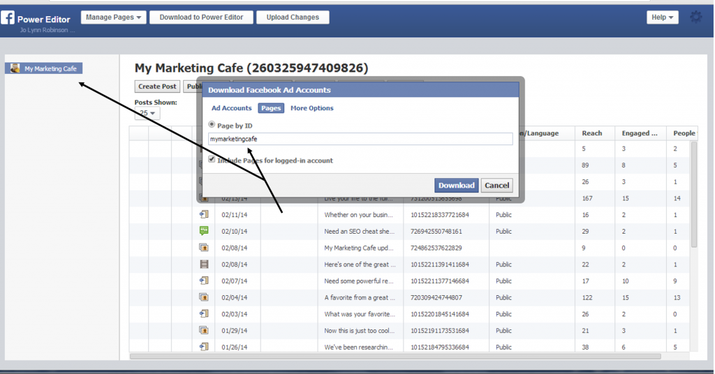 Facebook call to action instructions